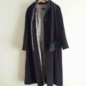Hilary Radley Wool/Angora Long Coat